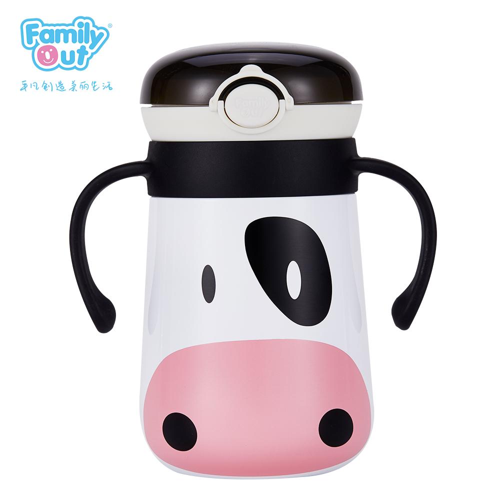 智能显温保温杯(奶牛)